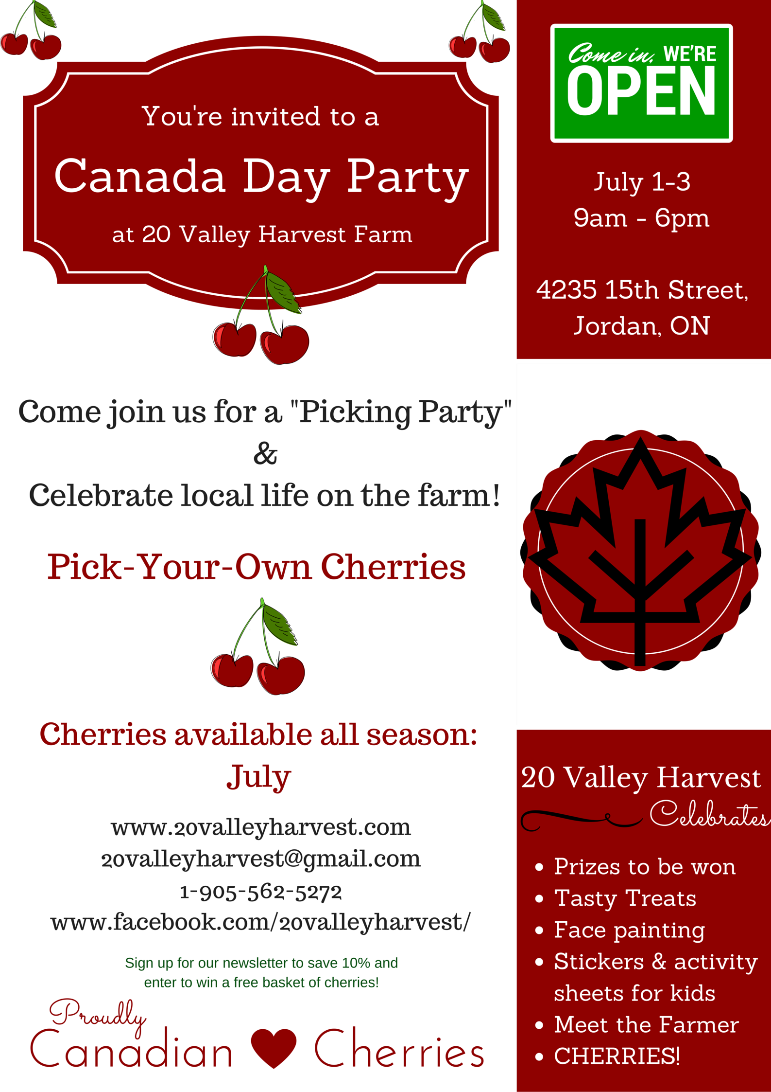 Canada Day Party Poster with savings V.2